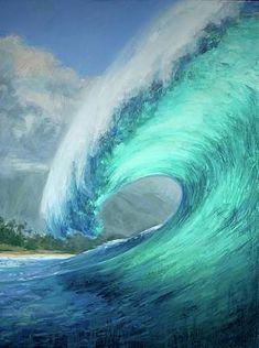 Art Vampire, Vampire Knight, Ocean Art, Ocean Waves, Water Waves, Ocean Paintings On Canvas, Mermaid Paintings, Wave Paintings, Art Surf