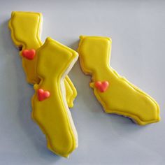 I Heart California Cookies 1 dozen by CoutureConfectionsFL on Etsy