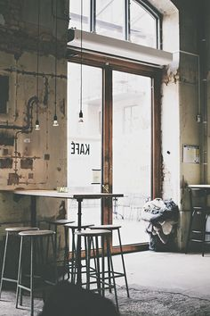 A former warehouse became a cafe, the Kafè Magazinet exactly. In a corner of Gothenburg, Sweden