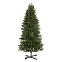 Vickerman Grand Teton 7.5' Green Slim Artificial Christmas Tree