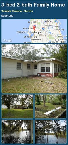 3-bed 2-bath Family Home in Temple Terrace, Florida ►$399,900 #PropertyForSale #RealEstate #Florida http://florida-magic.com/properties/86177-family-home-for-sale-in-temple-terrace-florida-with-3-bedroom-2-bathroom