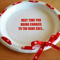 Dress up a plate for a bake sale or cookies, etc