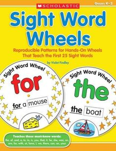"Put a new ""spin"" on learning to read with these hands-on wheels that teach 25 must-know words from the Dolch list! Easy to make and fun to use. Includes BONUS write-and-remember sight word practice pa"