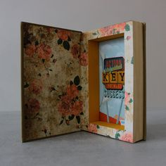 """Hollow book safe """"Action is the Key"""" by BookBoxStore on Etsy"""
