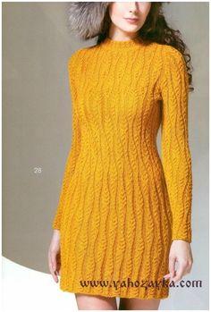 Короткое платье спицами описание. Вязаные платья спицами схемы бесплатно | Я Хозяйка