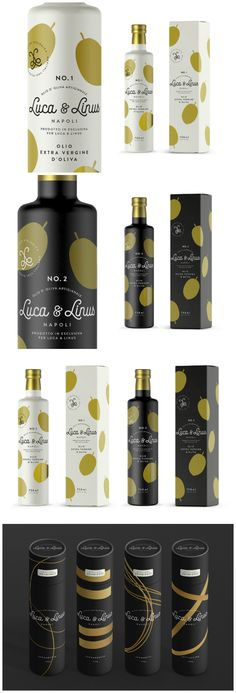 "TIBOR+ - Luca & Linus finest italian #Food #packaging ""An excellent #olive oil is essential in any Italian kitchen and so the idea for Luca & Linus olive oil was born."" World Packaging Design Society"