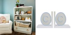 personalized book ends-Nursery Trends