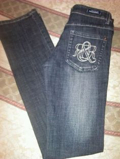 Rock & Republic R&R Jeans Victoria Beckham Women Size 27 Jeans Dark EUC