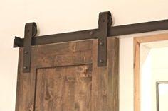 Amazon.com: Industrial Barn Door Hardware - Dark Bronze Finish - 6 ft Track - Nylon Wheel: Home Improvement
