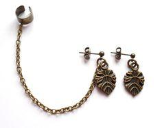 Ear cuff set med löv från lady of the lake smycken