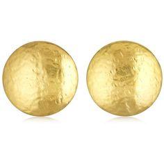 Oscar De La Renta Women Fish Scale Round Earrings (€170) ❤ liked on Polyvore featuring jewelry, earrings, gold, earring jewelry, gold earrings jewelry, gold earrings, oscar de la renta earrings and gold jewelry