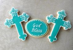Communion/Christening Cookies by TheEnchantedBaker on Etsy