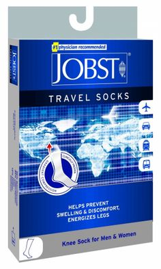 0d6d31e58ff Jobst Travel Knee High Support Socks 15-20 mmHg Compression For Men and  Women.