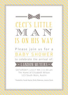 Adorable baby shower invitation.
