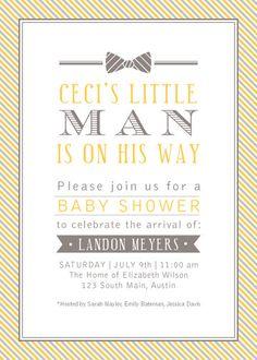 Little Man Bow Tie Invitation. $20.00, via Etsy.