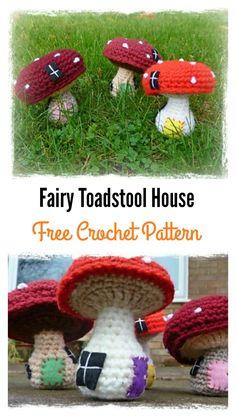 Crochet Fairy Toadstool House Free Pattern
