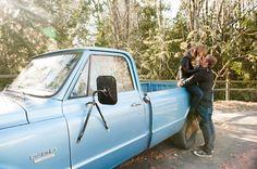 Shamus + Valerie Vintage Truck Engagement Photos by kerensa leigh photography