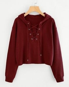 Search laceup top - - Drop Shoulder Eyelet Lace Up Sweatshirt Source by RockNaehmaschine Hoodie Sweatshirts, Pullover Hoodie, Sweater Hoodie, Hoodies, Crop Top Hoodie, Cute Comfy Outfits, Casual Outfits, Teen Fashion Outfits, Girl Outfits