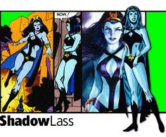Shadow Lass of the Legion of Super-Heroes.  Various artists.
