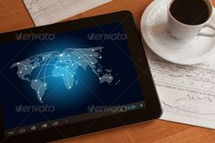 Social network on digital tablet. - Stock Photo - Images