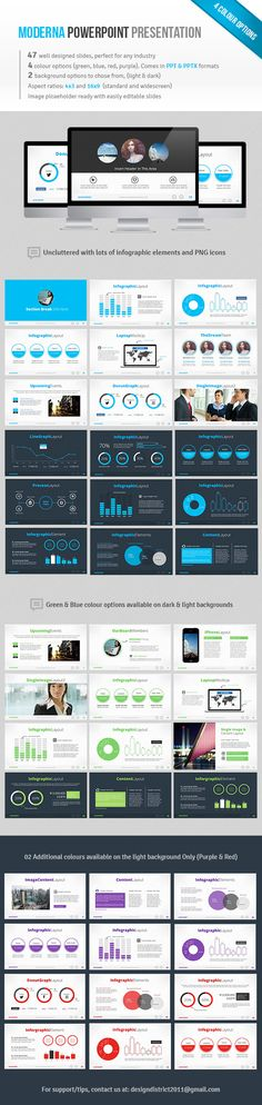 Moderna Powerpoint #slides #social media #template • Available here → http://graphicriver.net/item/moderna-powerpoint/4596595?s_rank=104&ref=pxcr