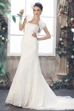 Noble Trumpet Mermaid Strapless Chapel Train Lace Wedding Dress CWLT09001 $429.00 wedding dress, wedding dress, wedding dress, wedding dress, wedding dress