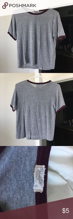 Brandy Melville Ringer Tee Simple ringer tee from Brandy Melville. I swear a size S typically and this fits well. Amount of use is reflected in price. There is pilling, which I show in the last photo. Brandy Melville Tops Tees - Short Sleeve