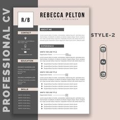 Professional Resume Template Modern CV Template for Word | Etsy
