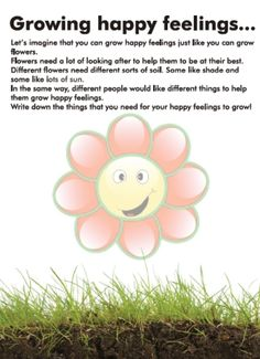 Growing Happy Feelings- Counseling Printable