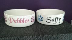 Personalised Cat Bowls.