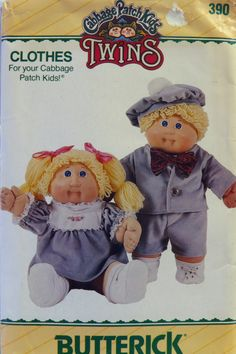 Butterick 0390 Cabbage Patch Kids Clothes