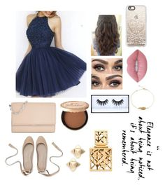 """Homecoming/Prom"" by chaoticstars ❤ liked on Polyvore featuring Michael Kors, Casetify, Valentino, Lime Crime, Too Faced Cosmetics, Huda Beauty and Tory Burch"
