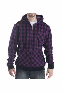 New Mens Nomis Crisp Light Full Zip Hoodie Hoody Large Purple