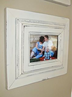Put two picture frames together and paint to get one chunky frame