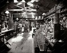 Reprint Of Old Photo Grocery Store 1890 Vintage… Vintage Pictures, Old Pictures, Old Photos, Victorian Pictures, Old General Stores, Old Country Stores, Le Far West, Old West, Vintage Photographs