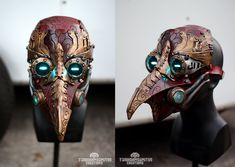 Arcane Steampunk/victorian LED plague doctor mask by TwoHornsUnited on DeviantArt