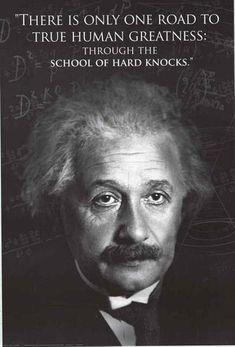Albert Einstein Hard Knocks Quote Poster 24x36 – BananaRoad