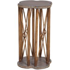Gold Sculpted Accent Table - Rustic Retreat