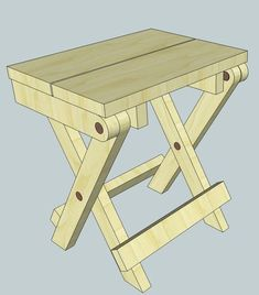 More folding stool plans | Woodworking for Mere Mortals
