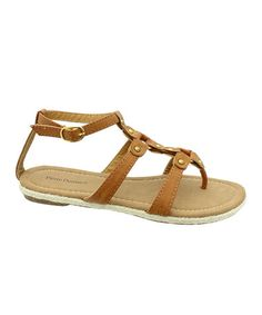 Take a look at this Tan Carla Thong Sandal by Pierre Dumas on #zulily today!