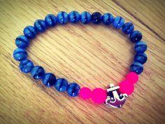 #FriendshipBracelets #BraceletsForFun #BraceletsLucky #BraceletsForAbundance #BraceletsOfLove #BraceletsForYou #Pink #Blue #Anchor #Beads #MarineBracelet https://www.facebook.com/ensistore