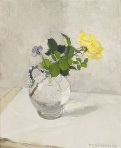 Still Life with Yellow Rose Olle Hjortzberg (1872-1959)