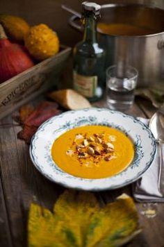 Roast Pumpkin, Coconut and Chilli Soup