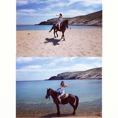 Kendall Jenner - Horseback Riding In Greece