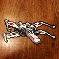 X-wing Star Wars hama perler beads by Lauro Espinosa Val