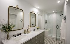 """A Husband and Wife's """"Happy Medium"""" Small Space Bathroom Renovation — Professional Project 