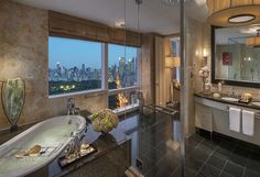 The presidential suite of New York's Mandarin Hotel has a perfect view of Central Park and the city skyline from 53 floors up