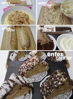 Muzlu Bisküvili 10 Dakika Pastası Tarifi için Malzemeler 3 tekli paket petibör bisküvi 1 litre süt 2 paket muzlu puding Üzeri için; 2 paket (160 gram) beyaz çikolata Hindistan cevizi Fındık Fıstık Damla çikolata Muzlu Bisküvili 10 Dakika Pastası Yapılışı Pasta için ilk olarak bisküvileri küçük küçük kırın. 1 litre süt ile 2 paket muzlu toz pudingi bir tencereye alıp pişirin. Sıcak pudingin içine bisküvileri ekleyin ve karıştırın. Elde ettiğiniz bu karışımı bir poşet ya da streç film ile…