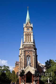 19th century Roman Catholic parish church of Ferencvaros in Budapest, Hungary.