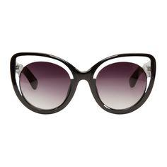 Erdem Black Oversized Erdem Sunglasses
